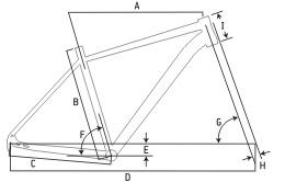 "Ideal Megisto 28"" Adventure Bike Geometry"